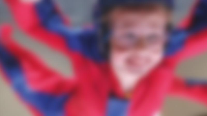 Girl in flying experience at Airkix Indoor Skydiving Manchester