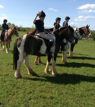Kids on horses at Noakes Farm Riding Centre in Bromyard