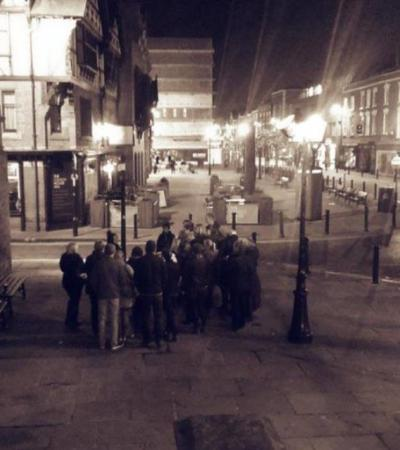 People on Ghost Hunter Trail in Chester