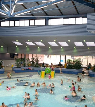 Families in swimming pool at Crown Pools in Ipswich