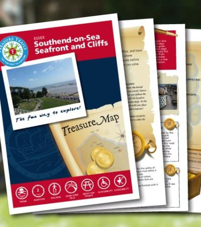 Map and booklet for Southend on Sea Treasure Hunt Trail