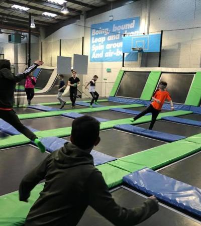 Kids jumping around at Jump In Elstree a trampoline park