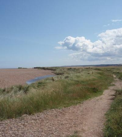 A view of the dunes at Cley Beach, Cley next the Sea