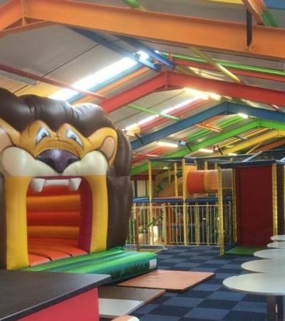 Bouncy castle and soft play frames at The Fun Factory in Newcastle upon Tyne
