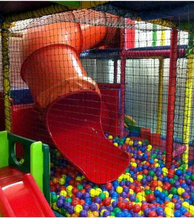 Slide and ball pit at Cafe Kidz in Biggleswade
