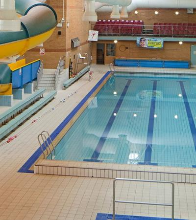 Slide and swimming pool at Waterworld and Breckland Leisure Centre in Thetford