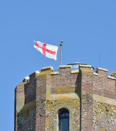 Flag on Naze Tower in Walton-on-the-Naze