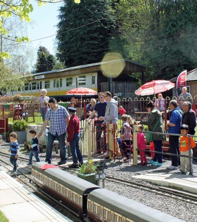 Families at Mizens Railway in Woking