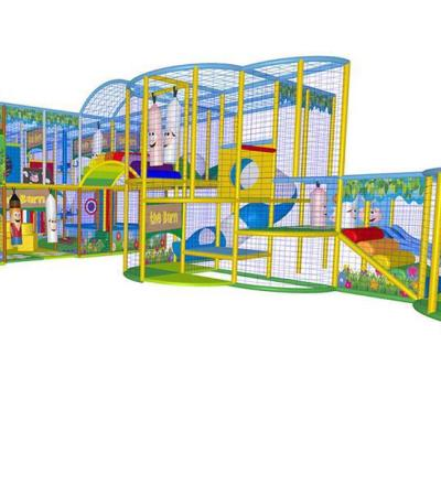 Indoor soft play frame at Bowling alleys at Flint Bowl