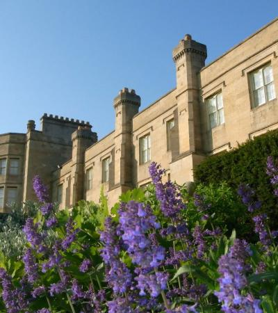 Outside view of Grimsthorpe Castle Park and Gardens in Bourne