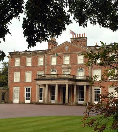 Outside view of hall at Weston Park Shifnal