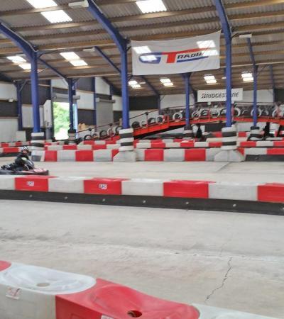 People go kart racing at Ace Karting in Nuneaton