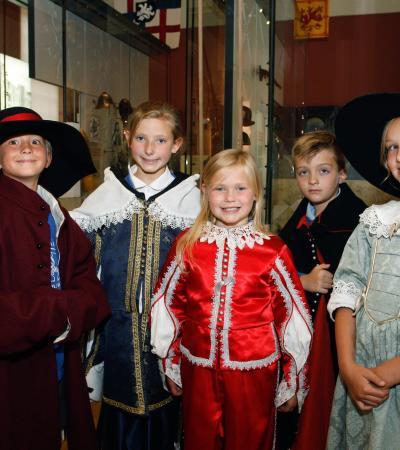 Kids in costumes at National Civil War Centre - Newark Museum