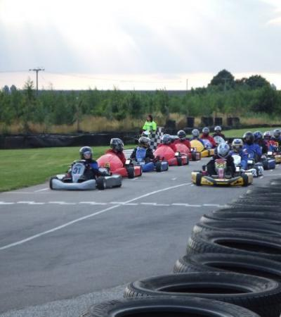 Kids in go karts at Anglia Karting Centre in Swaffham