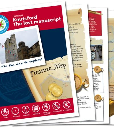 Map and booklet for The Knutsford Treasure Hunt Trail