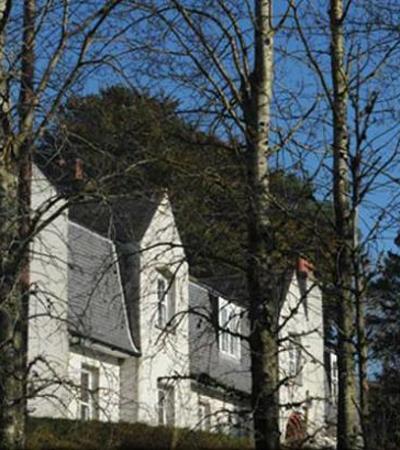 Sign to Glenesk Retreat and Folk Museum in Tarfside