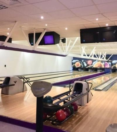 Some of the bowling lanes at The Genesis Family Entertainment Centre