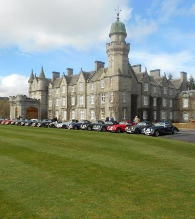 Classic cars at Balmoral Castle in Ballater