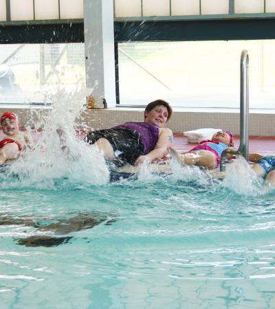 Kids in swimming lesson at Sportspace Hemel Hempstead