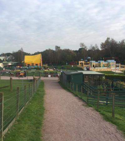 Animals and Outdoor Adventure playground at Dalscone Farm in Dumfries