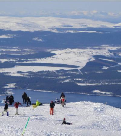 View from CairnGorm Mountain in Aviemore