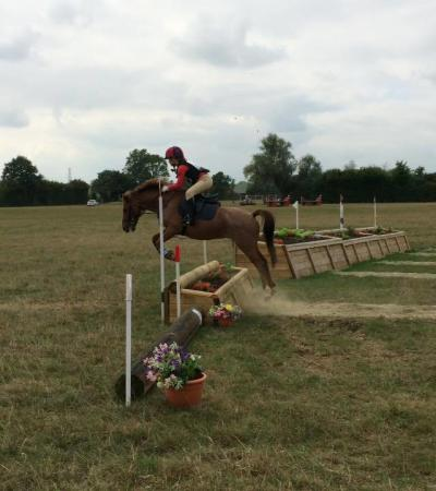 Rider and horse jumping at Wellgrove Farm Stables in Tunbridge Wells