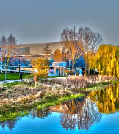 Outside view of Riverside Ice and Leisure Centre in Chelmsford
