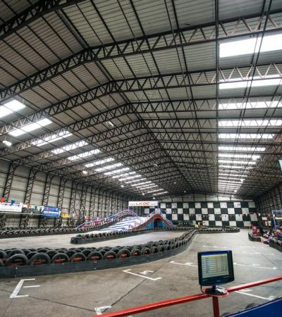 Race track at Langar Go Karting and Quad Biking Centre in Nottingham