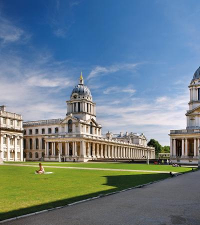 Outside view of Old Royal Naval College in Greenwich