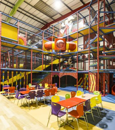 Indoor soft play frame at Kidabulous in Sunbury