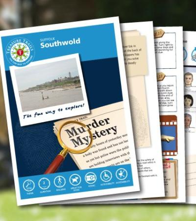 Map and booklet for The Southwold Mystery Treasure Trail