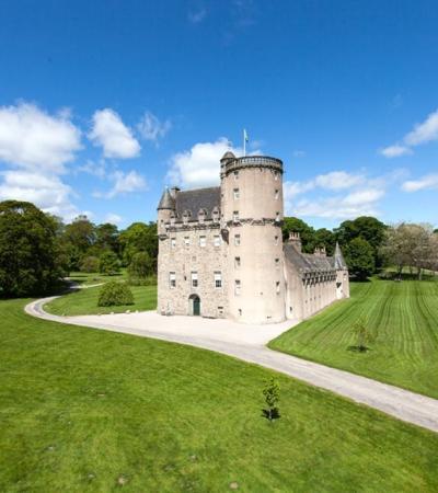 Outside view of Castle Fraser in Aberdeen