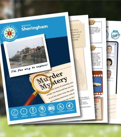 Map and booklet for Sheringham Treasure Trail