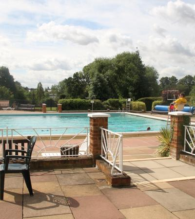 Outdoor swimming pool at Hitchin Swimming Centre