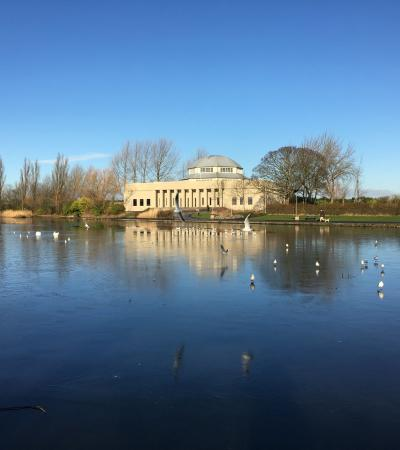 Lake at Exhibition Park in Newcastle upon Tyne