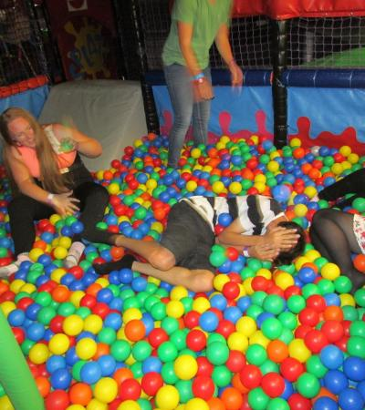 People in ball pit at Monkey Madness Play Centre in Basildon