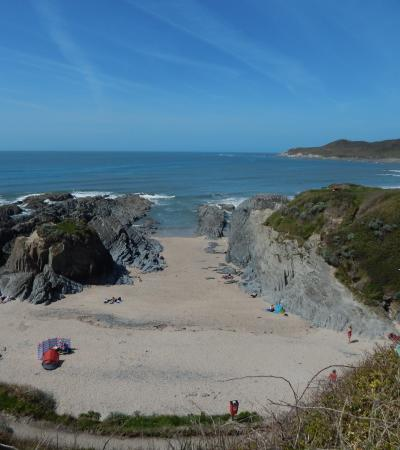 Hill top view of Woolacombe Sands