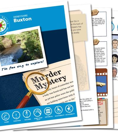 Map and booklet for The Buxton Mystery Treasure Trail