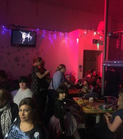 Families eating at Frostys Funhouse in Forfar