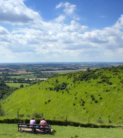 View from North Downs Way National Trail in Farnham