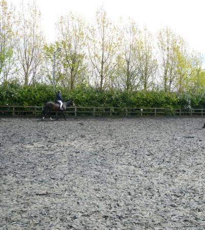 Person horse riding at Hargate Hill Equestrian Centre in Glossop