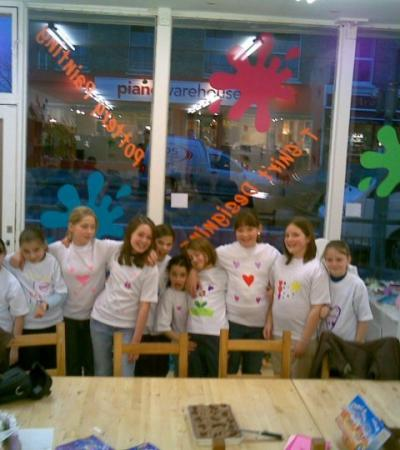 Kids in craft sessions at The Crafty Cafe in Surbiton