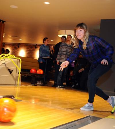 Girl bowling at Superbowl UK Ipswich