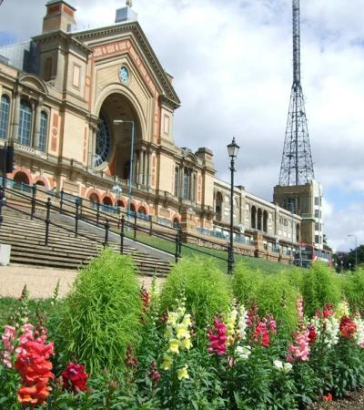 Outside view of Alexandra Palace in London