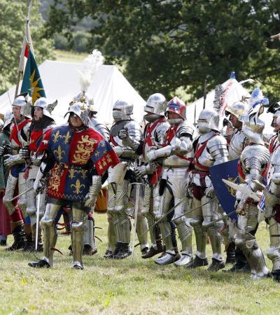 Battle event at Bosworth Battlefield in Nuneaton