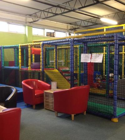 Indoor soft play frame at Larkhill Space Station in Salisbury