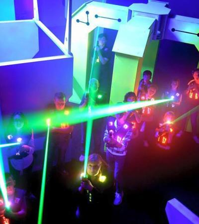 Kids playing laser tag at Planet Laser in Bury St Edmunds