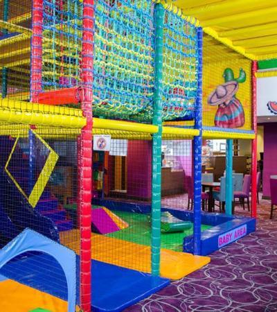 Indoor soft play frame at Playworld Huddersfield