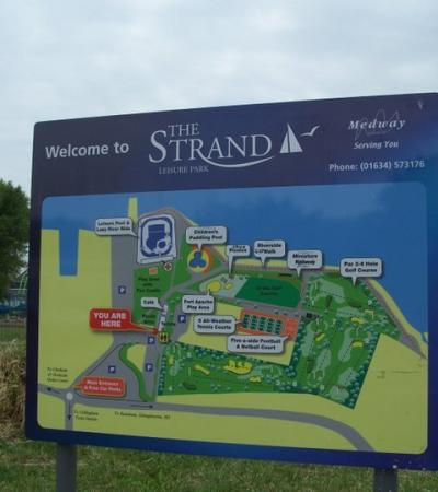 Map of Strand Leisure Pool in Gillingham