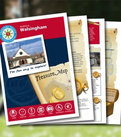 Map and booklet for Walsingham Treasure Trail